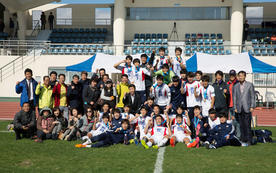 Dankook soccer team wins the National Games for the first time