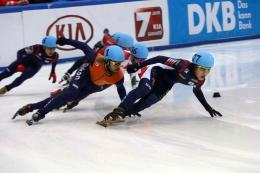 Ji-won Park sweeps medals at the short-track speed skating World Cup